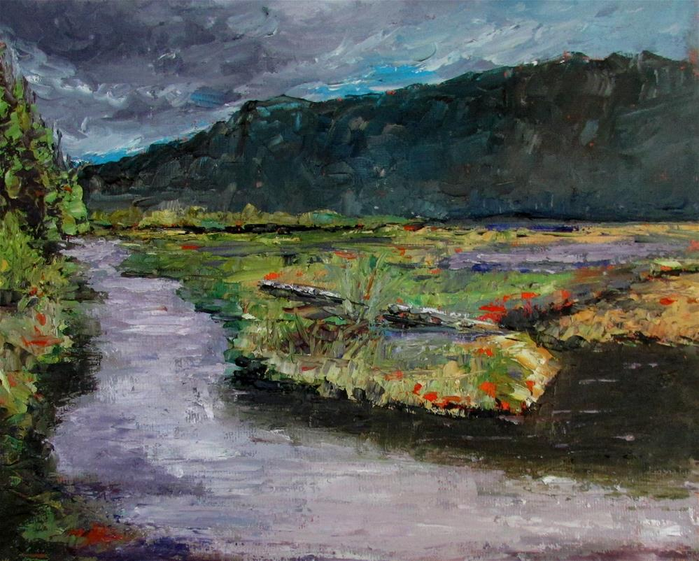 """8 x 10 inch Cow Bay Estuary #8"" original fine art by Linda Yurgensen"