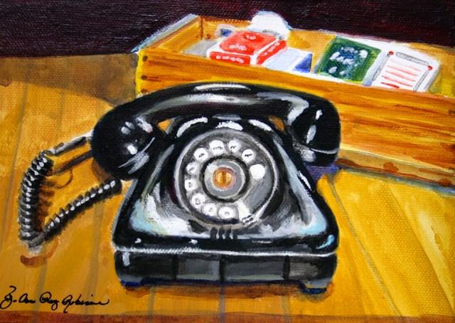 """The R. Phone"" original fine art by JoAnne Perez Robinson"