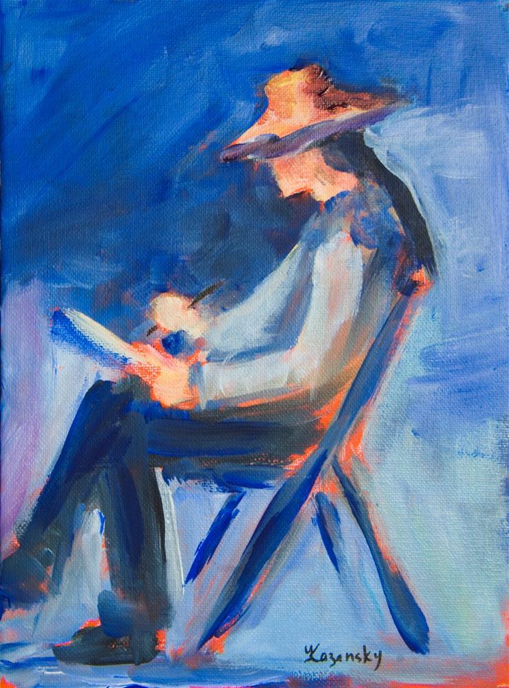 """Artist on Plein Air"" original fine art by Yulia Kazansky"