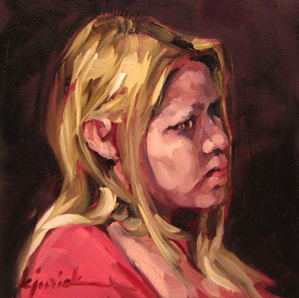 """100 Faces, No. 45"" original fine art by Karin Jurick"
