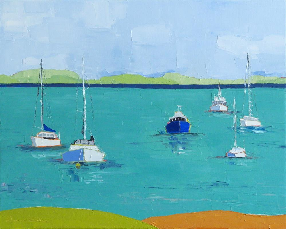 """Into the Harbor"" original fine art by Donna Walker"