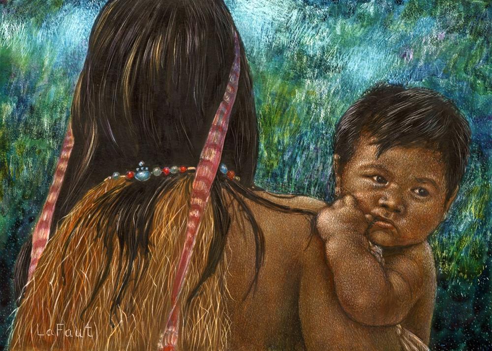 """Jungle Family: Amazon Series #6"" original fine art by Sandra LaFaut"