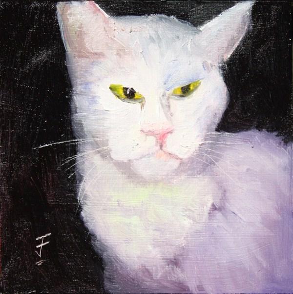 """Mean Tom"" original fine art by Jane Frederick"