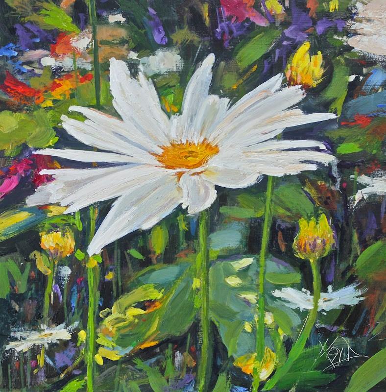"""""""Daisy Lady"""" original fine art by Ken Devine"""