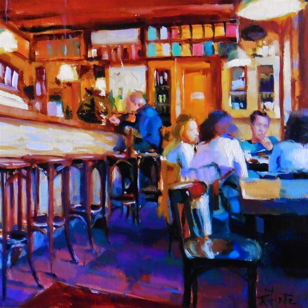 """Bar La Polaca"" original fine art by Víctor Tristante"