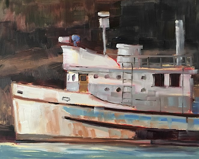 """Rusty Scupper"" original fine art by Deborah Newman"