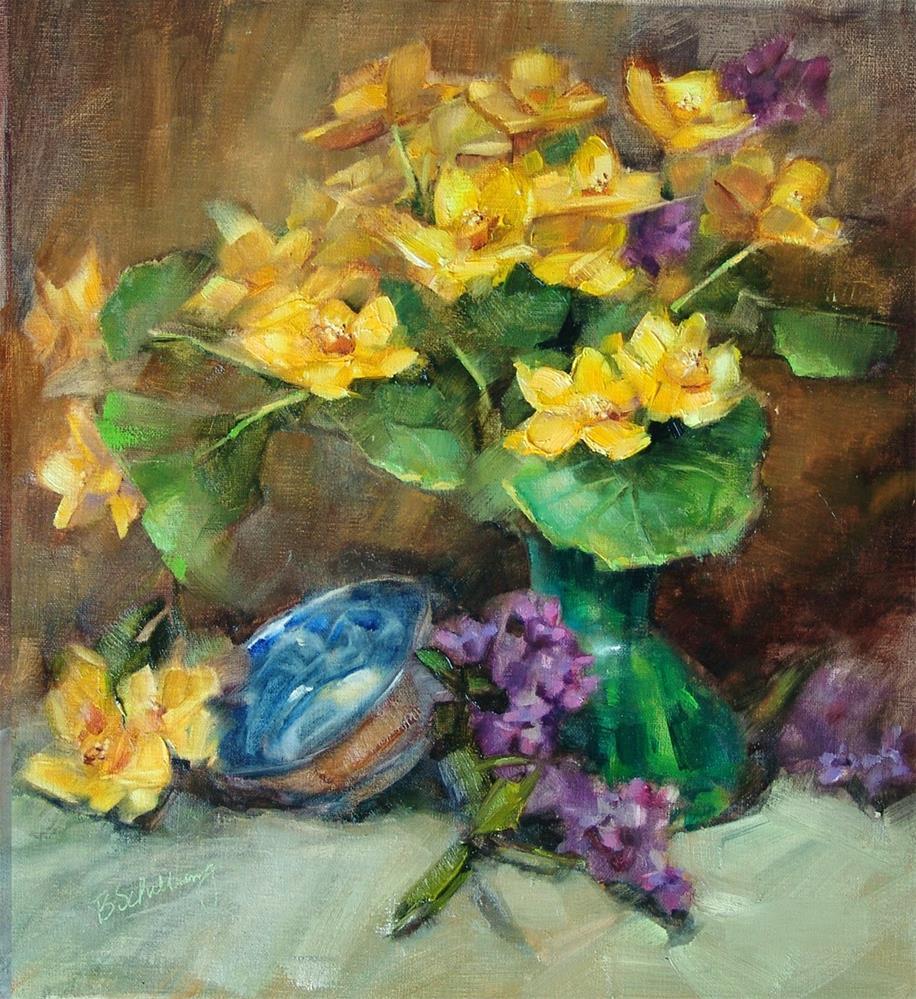 """Marsh Marigolds"" original fine art by Barbara Schilling"