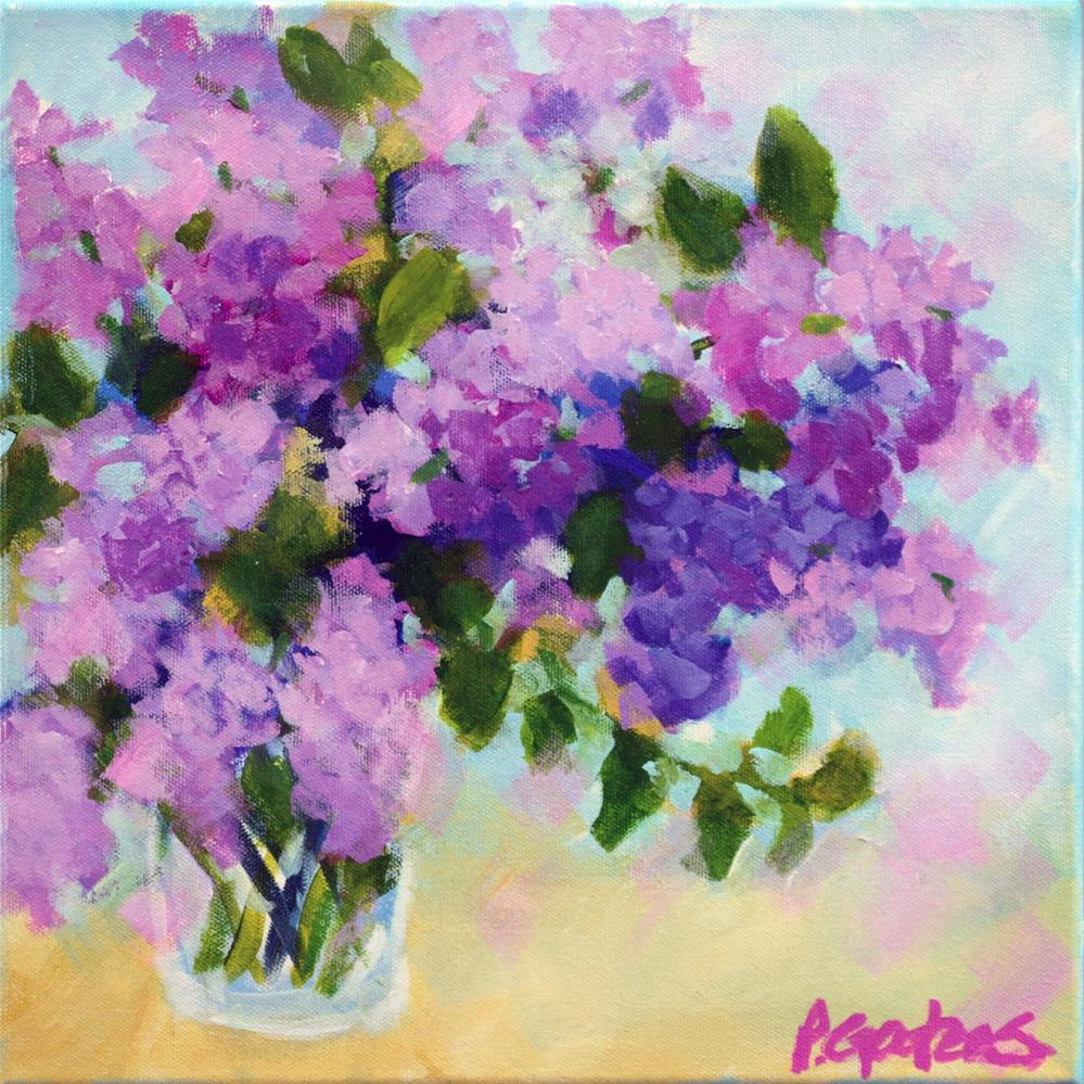 """Little Lilacs"" original fine art by Pamela Gatens"