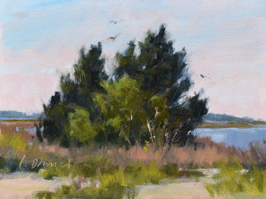 """River Marsh Study"" original fine art by Laurel Daniel"
