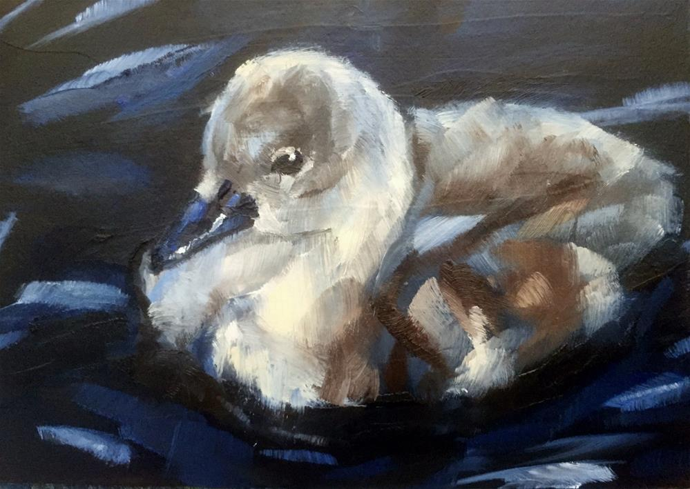 """Cygnet"" original fine art by Gary Bruton"