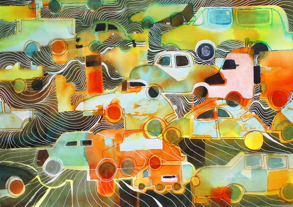 """L A Traffic"" original fine art by Julie Crouch"