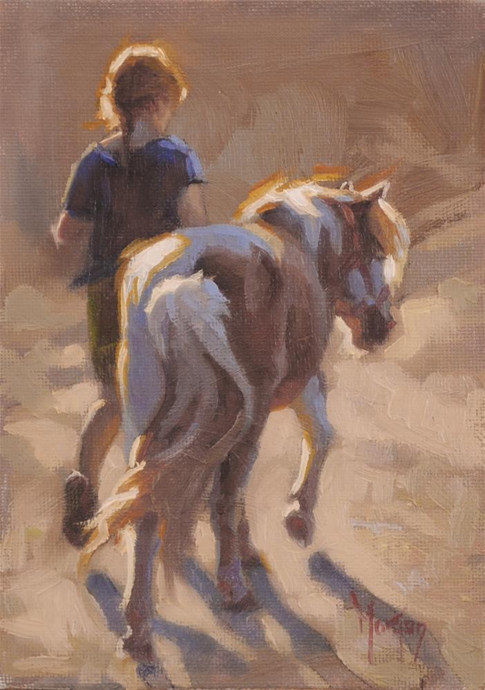 """Morning Prepartions"" original fine art by Cecile W. Morgan"