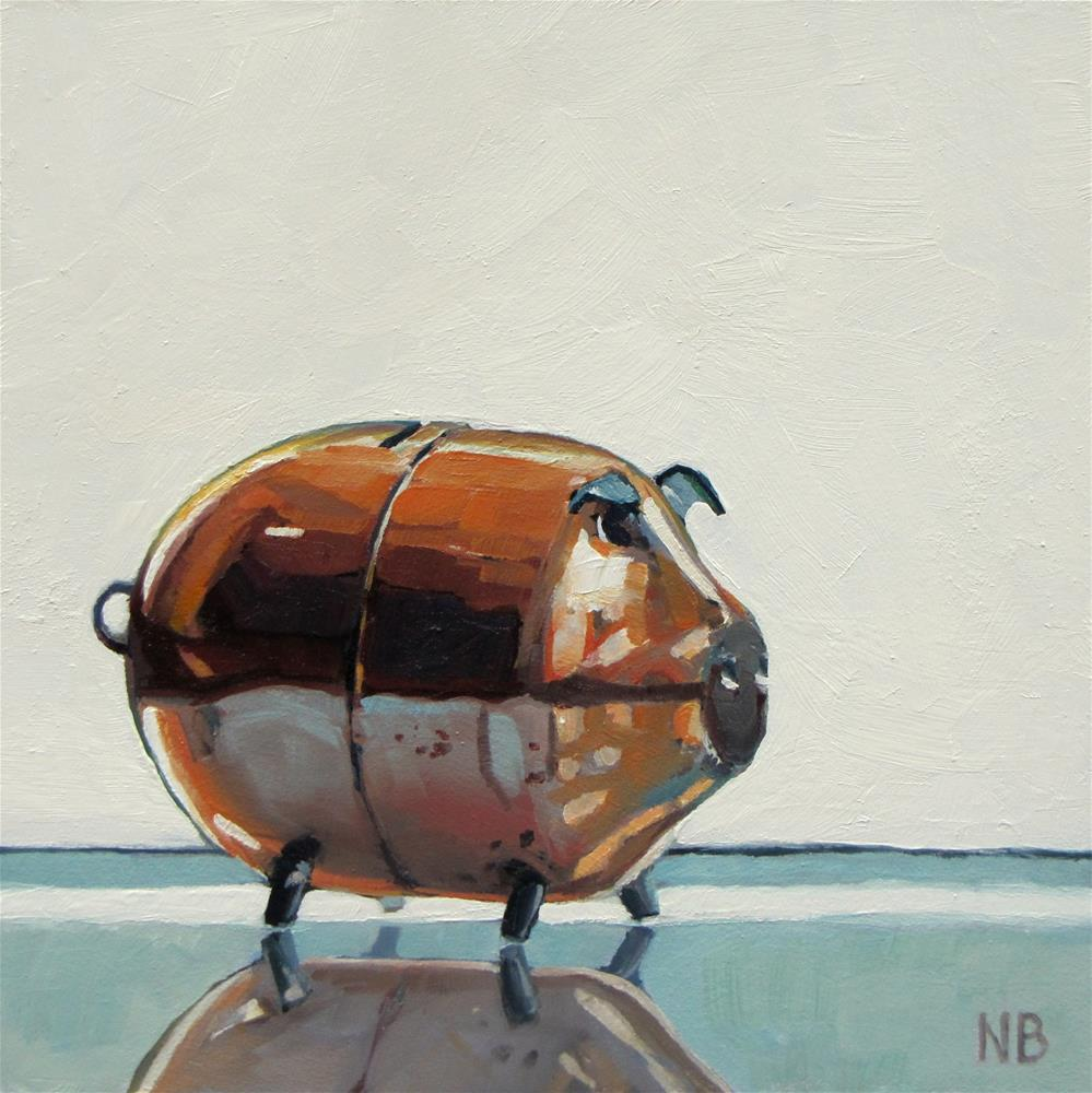 """This Little Piggy"" original fine art by Nora Bergman"