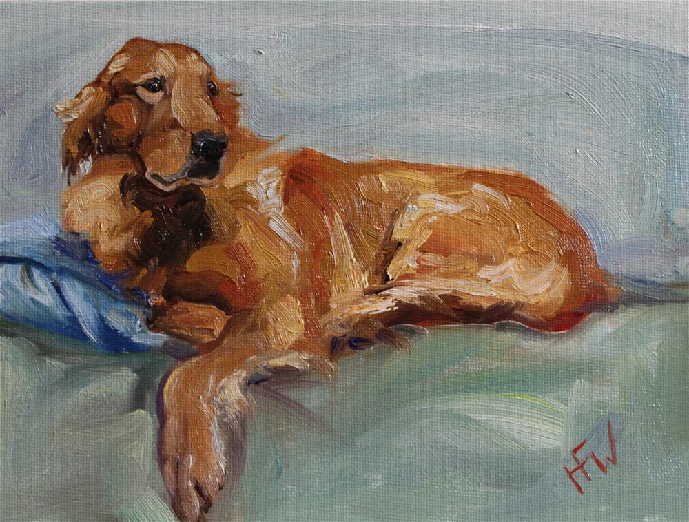 """""""Lazy Golden"""" original fine art by H.F. Wallen"""