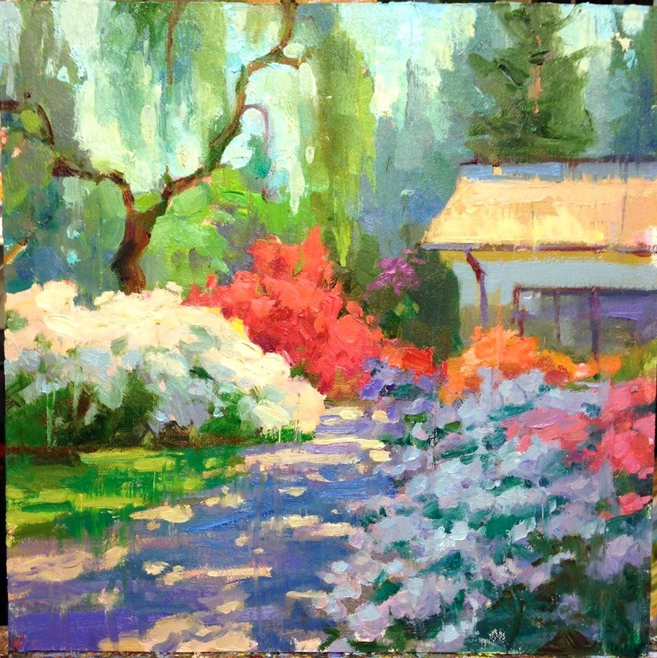 """Azalea Time"" original fine art by Emiliya Lane"