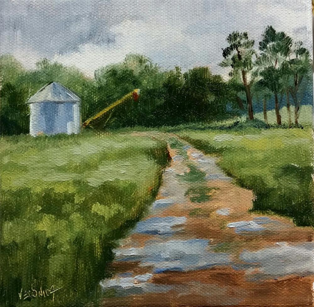 """Rain is a Good Thang"" original fine art by Veronica Brown"