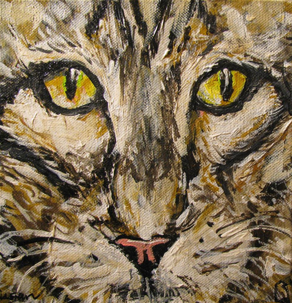 """Tammy Tabby"" original fine art by Susan Elizabeth Jones"