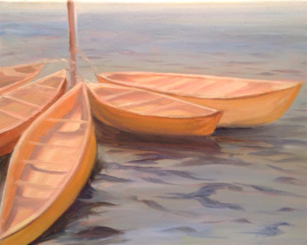 """Boats at Mooring"" original fine art by Debra Kennedy"