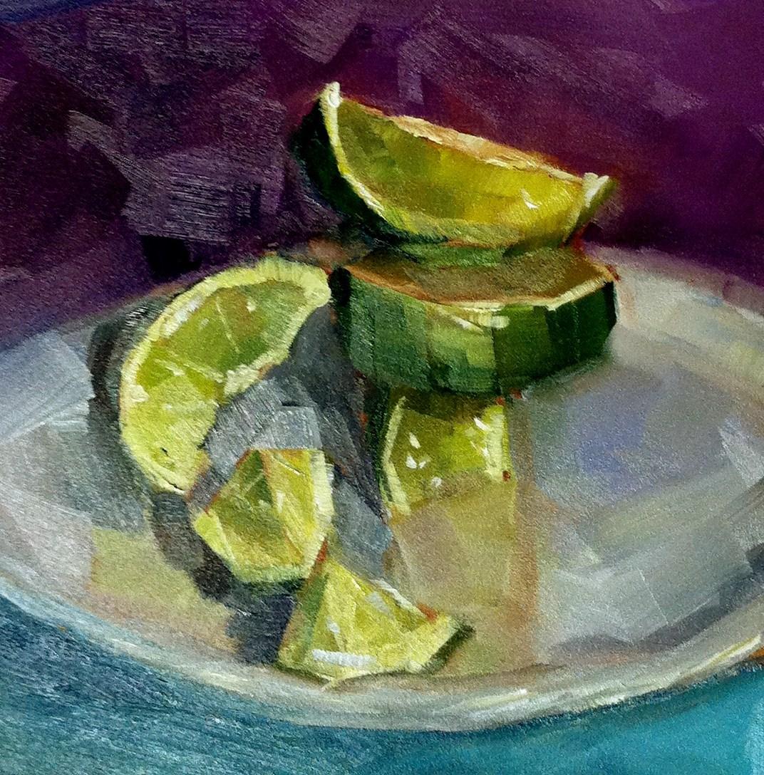 """Lime Jenga"" original fine art by Kristen Dukat"