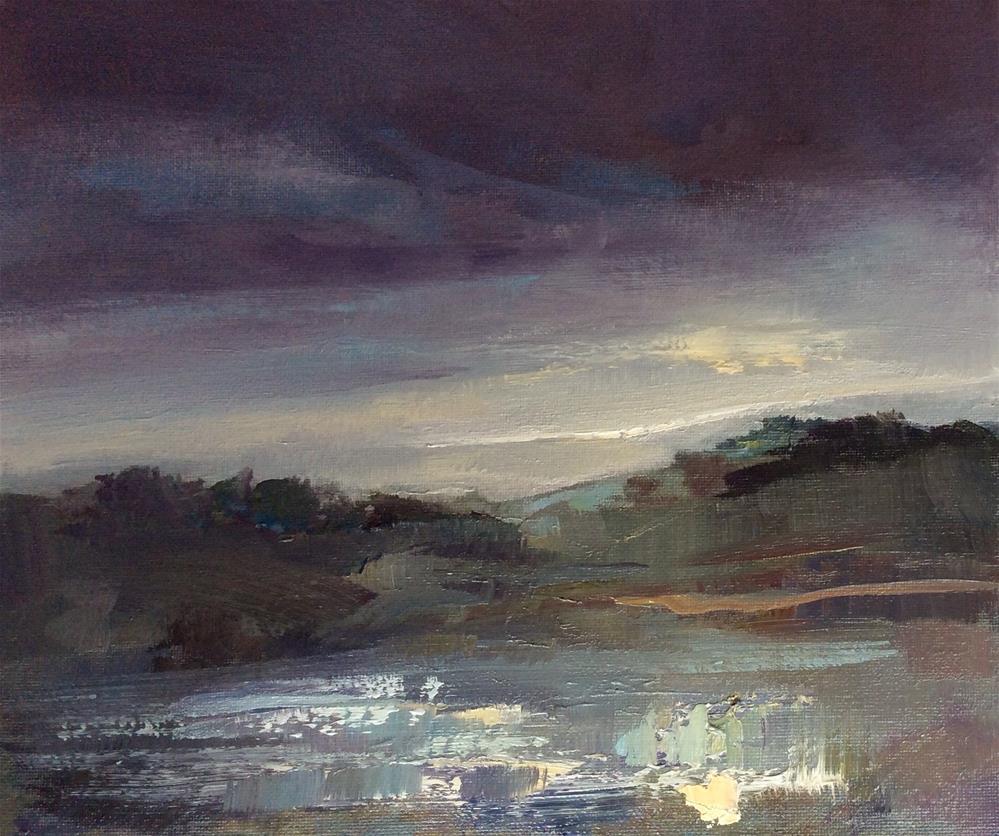 """""""Breaking Light"""" original fine art by Anne Wood"""
