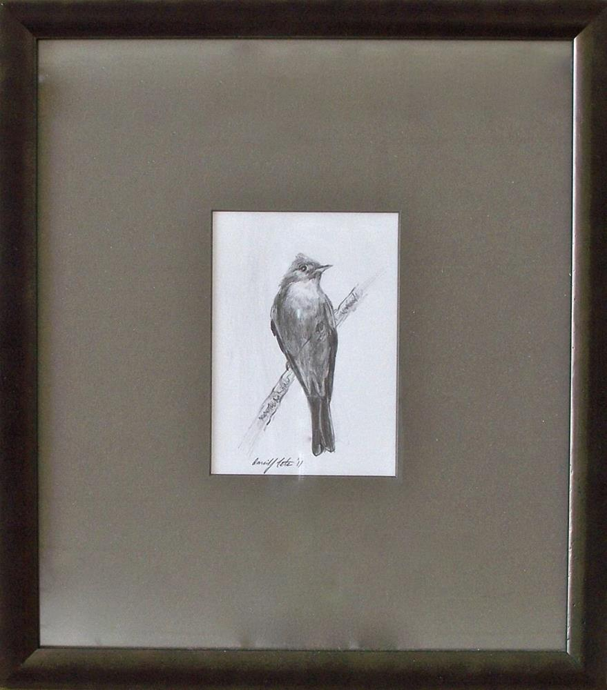 """Greater Pewee"" original fine art by David J. Teter"