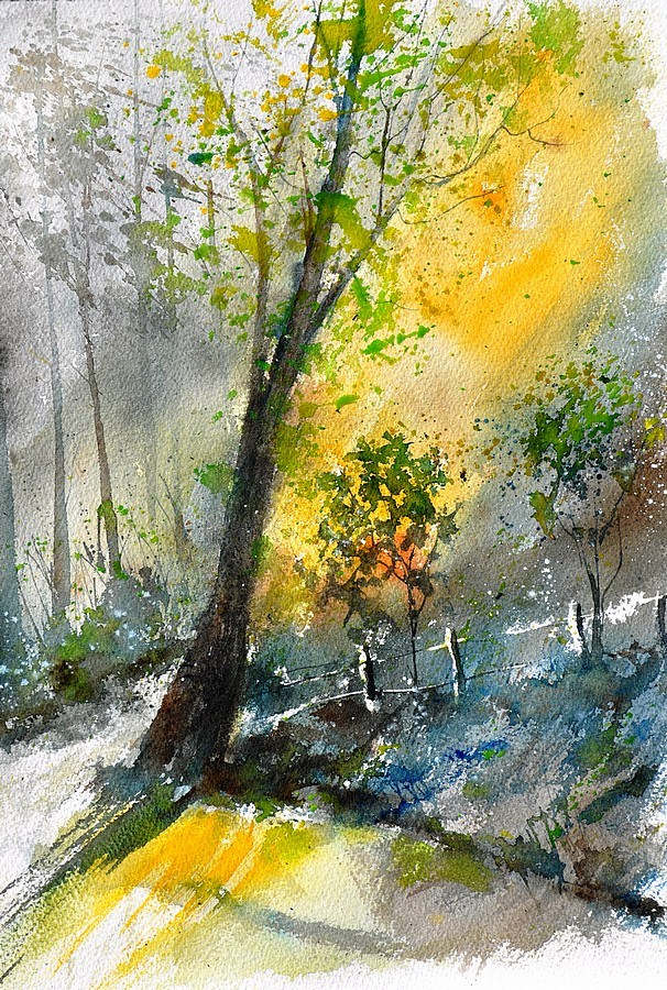 """watercolot 114081"" original fine art by Pol Ledent"