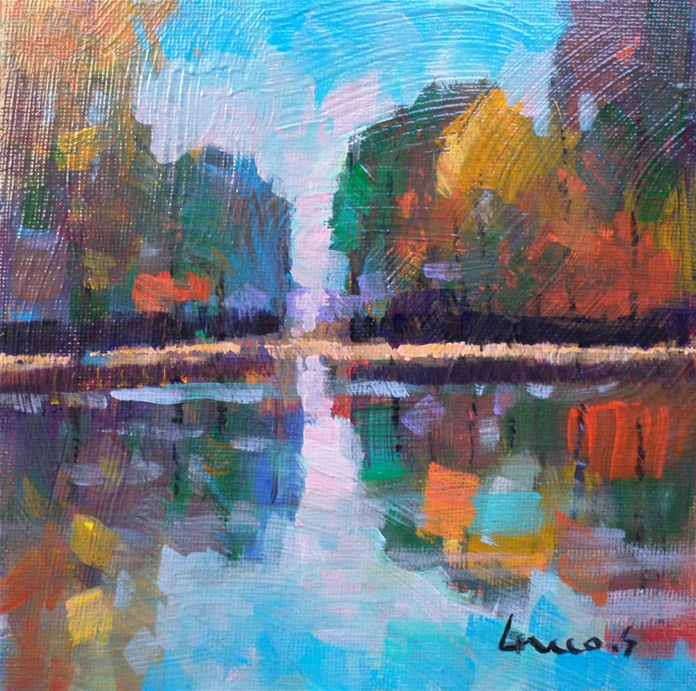 """pond"" original fine art by salvatore greco"