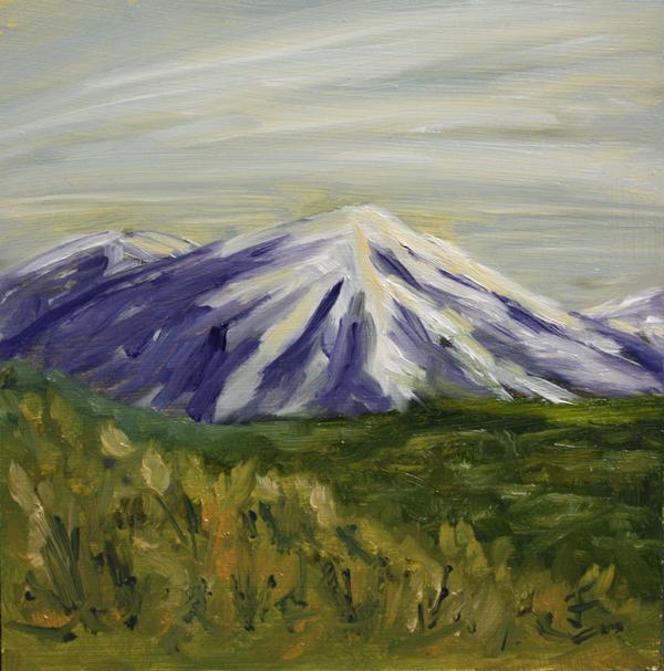 """Snowy Peaks"" original fine art by Jane Frederick"