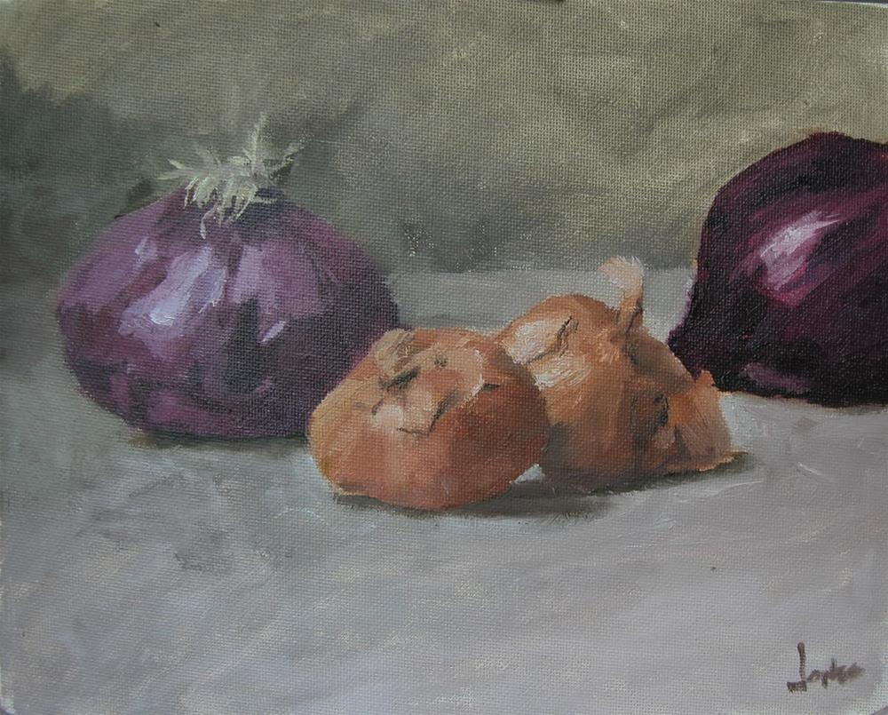 """Red Onions and Shallots"" original fine art by Richard Jones"