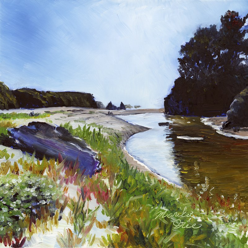 """Jug Handle Creek"" original fine art by Mariko Irie"