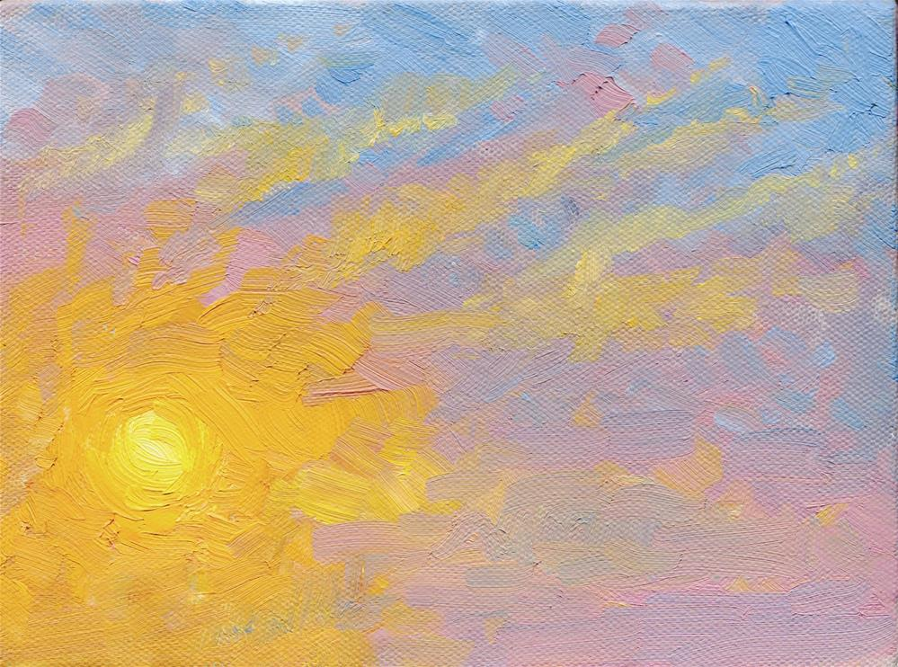 """WINTER SUNRISE I"" original fine art by Karen E Lewis"