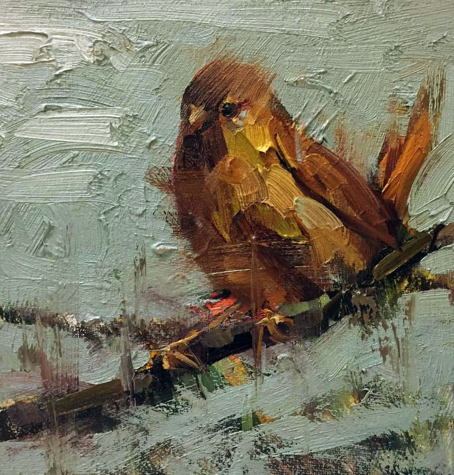 """Yellow bird"" original fine art by Mostafa Keyhani"