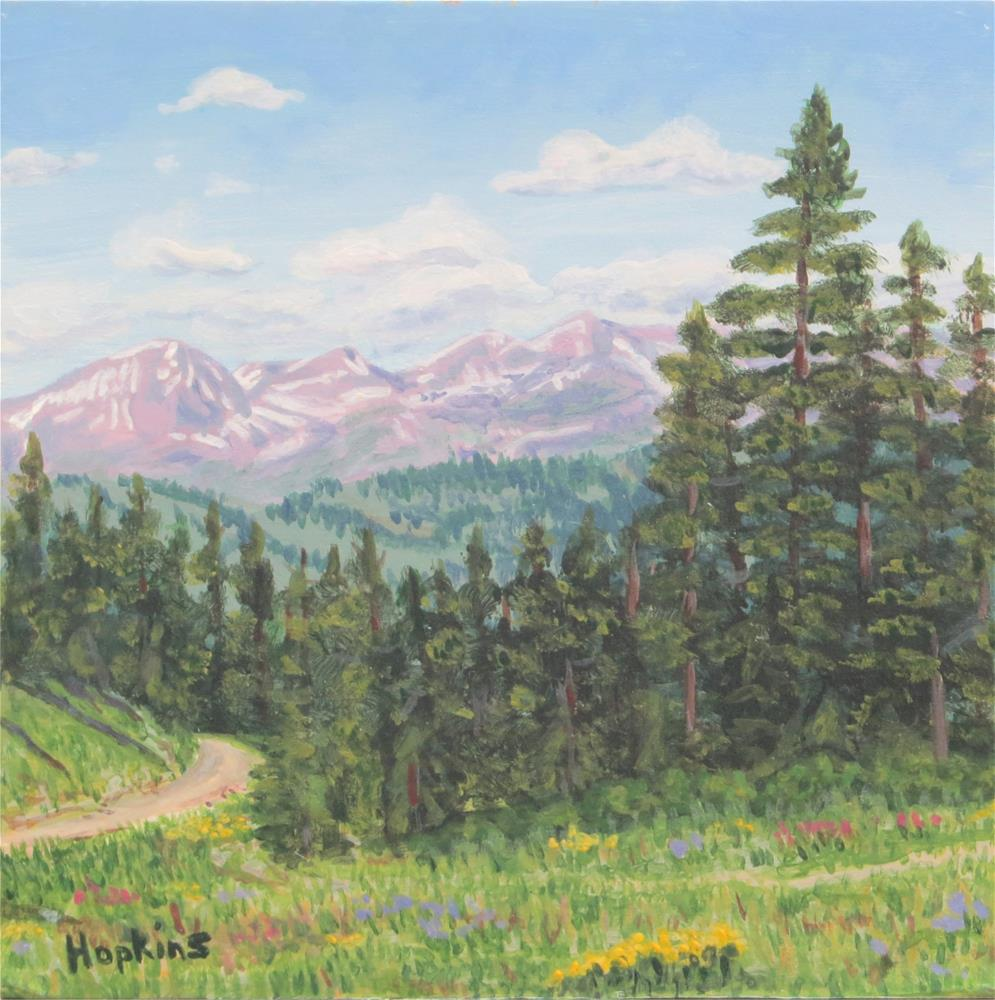 """Telluride"" original fine art by Sue van Tonningen"