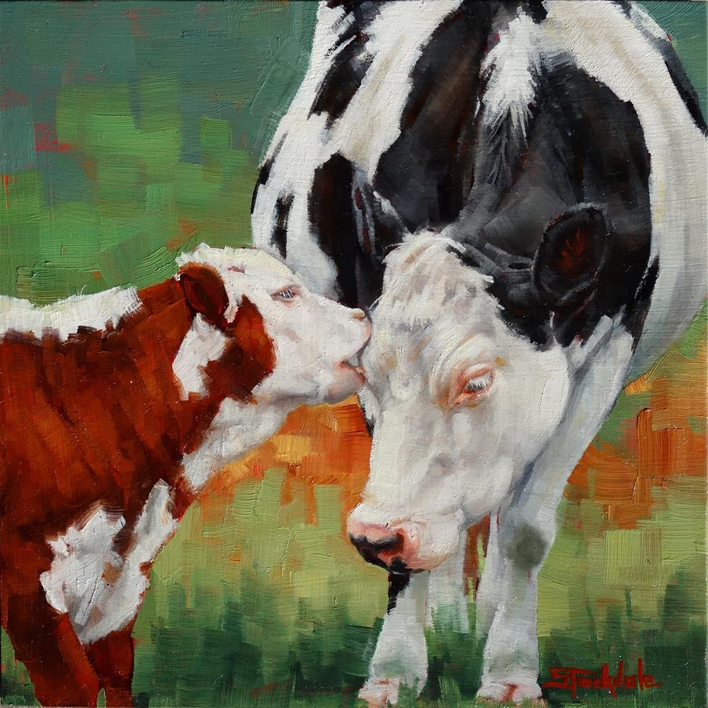 """Mothers Little Helper"" original fine art by Margaret Stockdale"