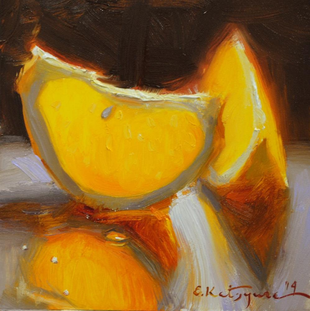 """Orange Slices"" original fine art by Elena Katsyura"