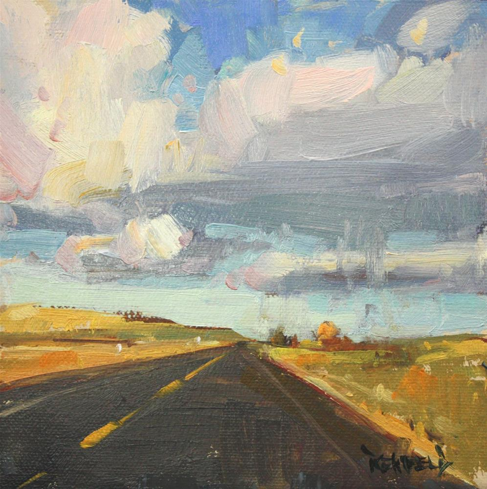"""Western Skies"" original fine art by Cathleen Rehfeld"