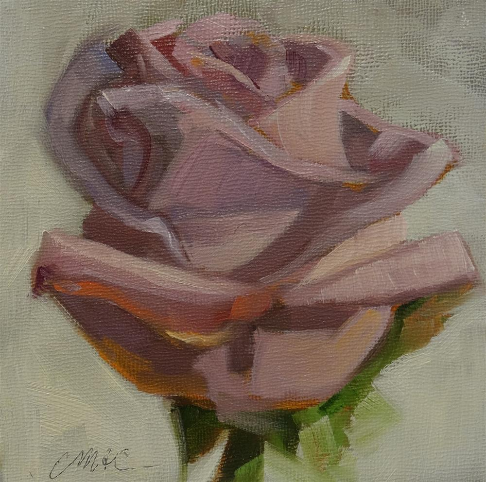 """Purple Rose"" original fine art by Carolyn McDonald"
