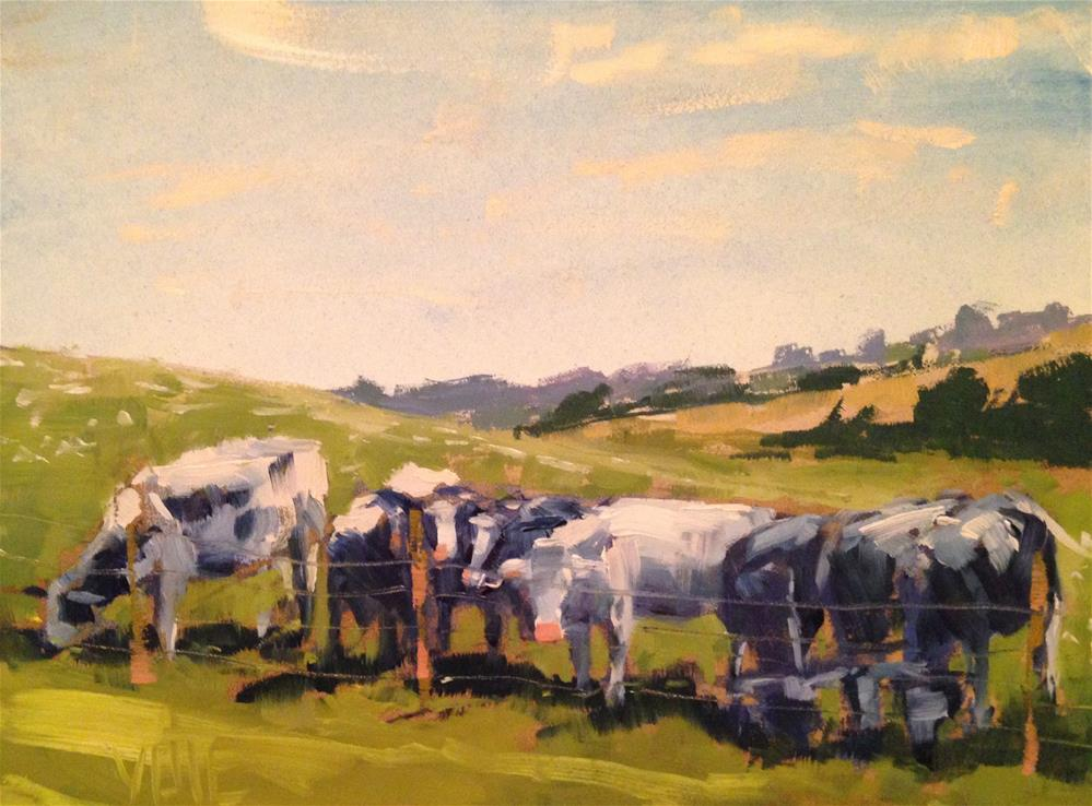 """#158 Mineral Point Welcoming Committee"" original fine art by Patty Voje"