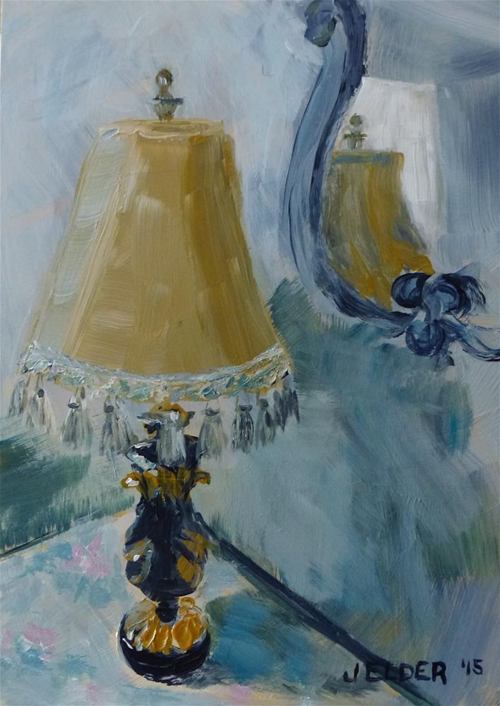 """Lamp and Mirror"" original fine art by Judith Elder"