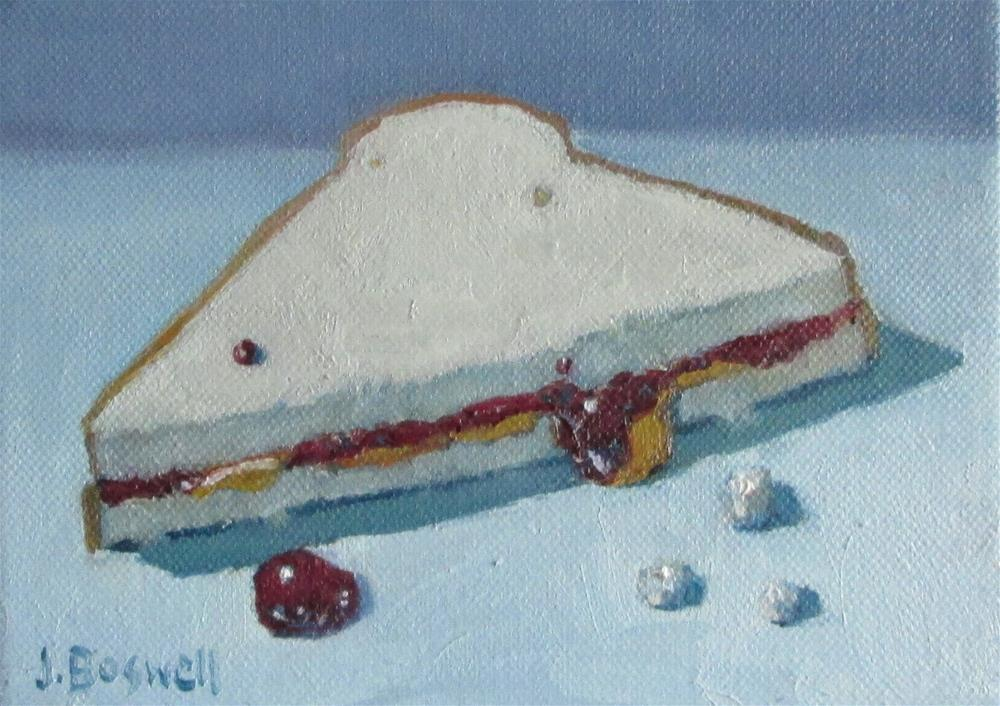 """Half Peanut Butter and Jelly with Crumbs Series 5"" original fine art by Jennifer Boswell"