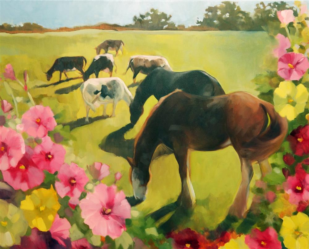 """Philomel's Garden"" original fine art by Elaine Juska Joseph"