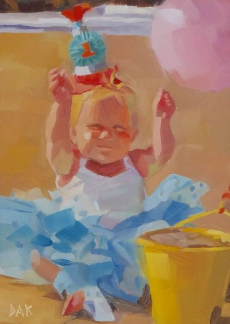 """Beach Birthday"" original fine art by Deborah Ann Kirkeeide"