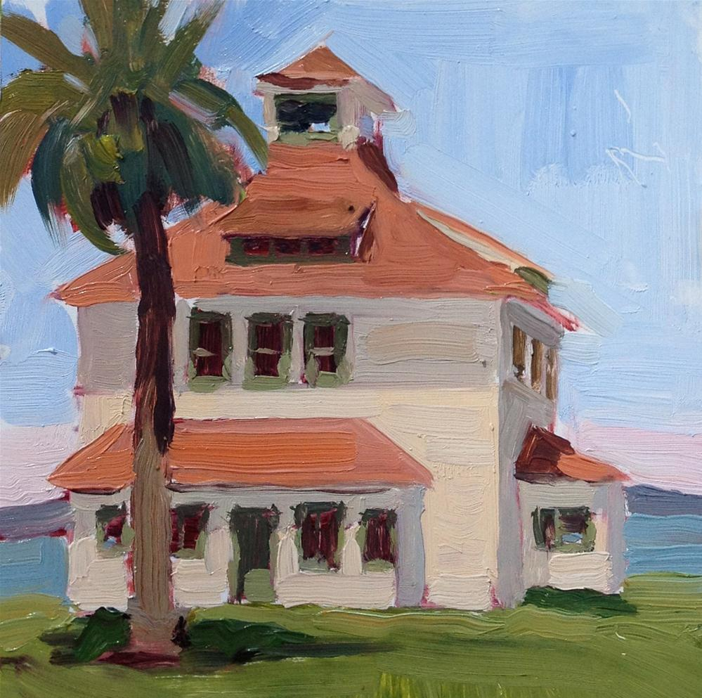 """Plein Air Presidio San Francisco"" original fine art by Deborah Newman"