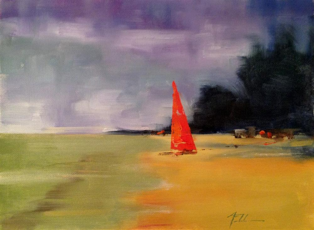 """La Playa II, 11x9"" original fine art by Ann Feldman"