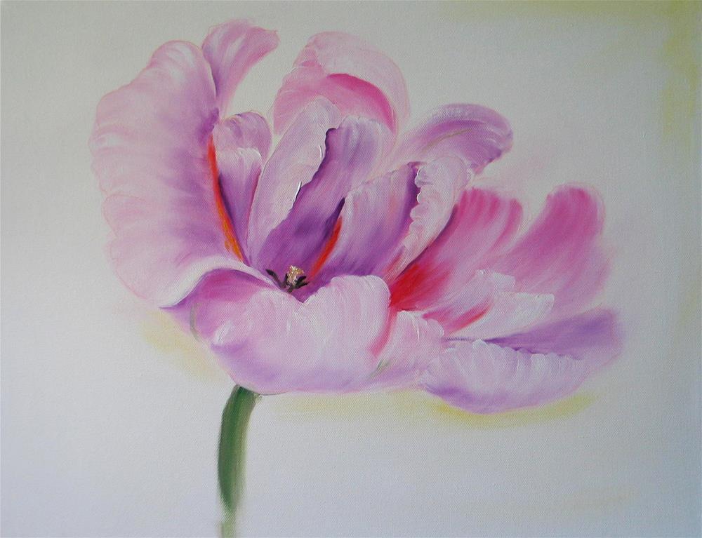 """Soft Focus Tulip"" original fine art by Richard St.Jean"