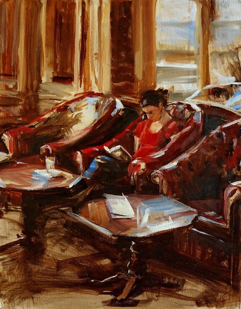 """Reading"" original fine art by Jonelle Summerfield"