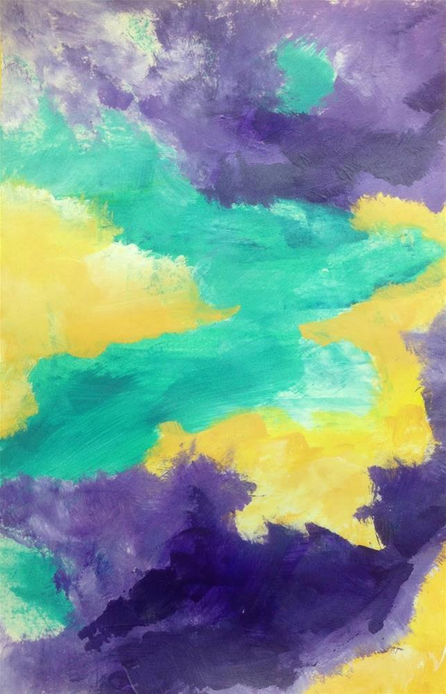 """COLOR, Day 1"" original fine art by Dotty  Seiter"