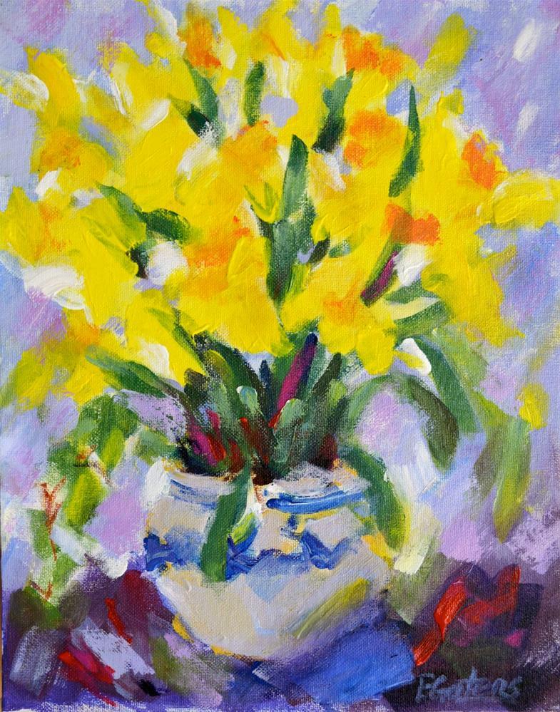 """Yellow Daffodils"" original fine art by Pamela Gatens"