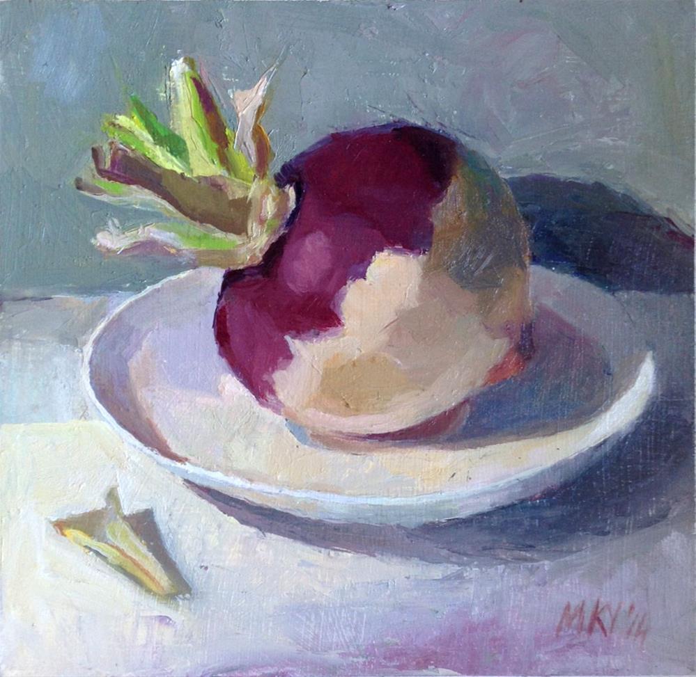 """Balancing Turnip"" original fine art by Myriam Kin-Yee"