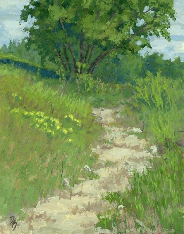 """Spring Walk"" original fine art by David King"